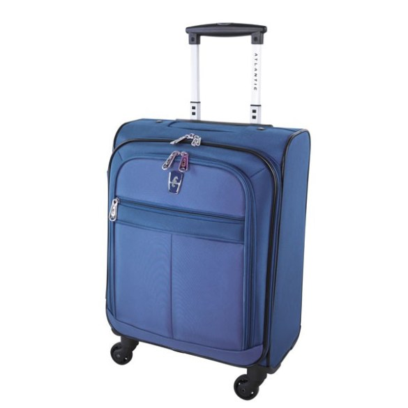 Atlantic Essential 2-Piece Set Travel Tote and 18 inch Carry-On AL18202 Blue Front