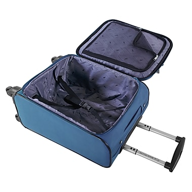Atlantic Essential 2-Piece Set Travel Tote and 18 inch Carry-On AL18202 Blue Inside