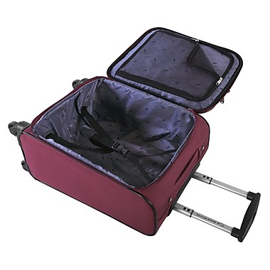 Atlantic Essential 2-Piece Set Travel Tote and 18 inch Carry-On AL18202 Burgundy Inside