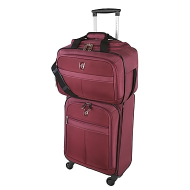 Atlantic Essential 2-Piece Set Travel Tote and 18 inch Carry-On AL18202 Burgundy Set