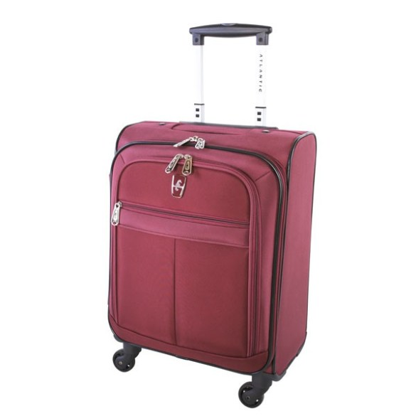 Atlantic Essential 2-Piece Set Travel Tote and 18 inch Carry-On AL18202 Burgundy Suitcase