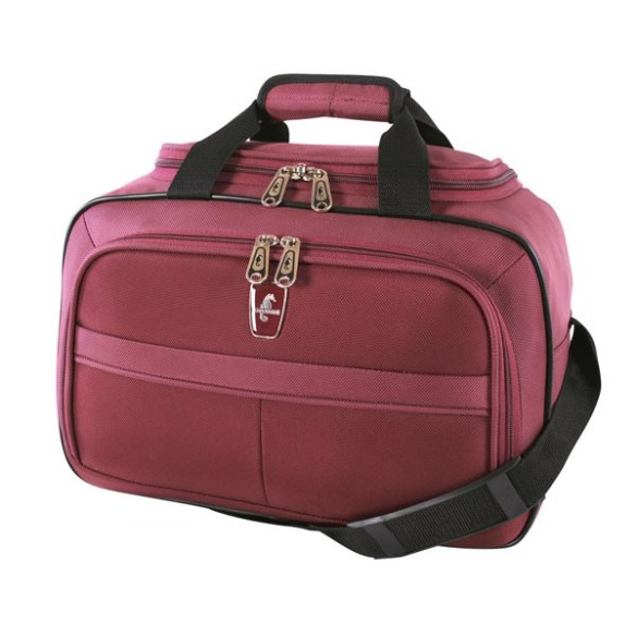 Atlantic Essential 2-Piece Set Travel Tote and 18 inch Carry-On AL18202 Burgundy Tote