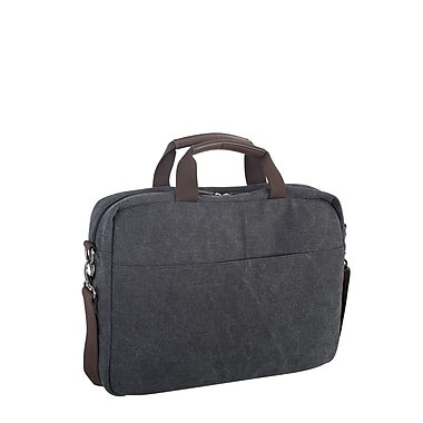 Roots 73 15.6 inch Laptop Canvas Briefcase RTS3463 Grey Back