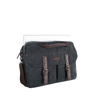 Roots 73 15.6 inch Laptop Canvas Briefcase RTS3463 Grey Inside