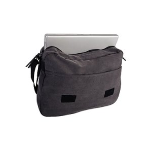 Roots 73 15.6 inch Laptop Canvas Messenger RTS3437W Grey Inside
