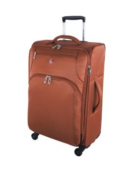 Swiss Gear Super Lite II Collection 24 inch Expandable Spinner SW28574 Burnt Orange Front