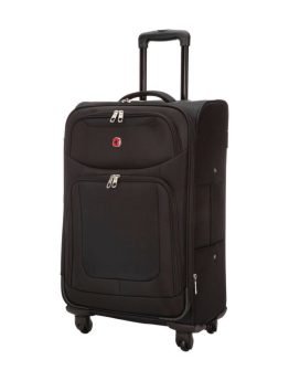 Swiss Gear Zernez II 24 inch Expandable Spinner SW14574 Black Front 1