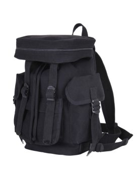 Rothco Compact Canvas European Backpack Black 29305