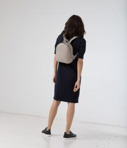Matt and Nat Olly Backpack Dwell Collection Black Model Back