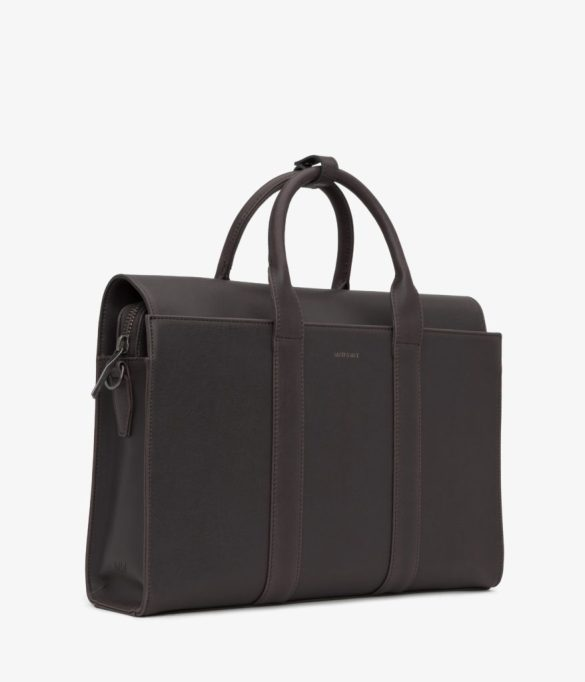 Matt and Nat Parallel Satchel Vintage Collection Charcoal Side