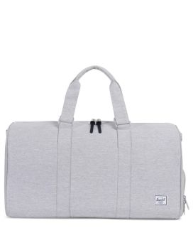 Herschel Supply Co Novel Duffle Mid-Volume Light Grey Crosshatch Front