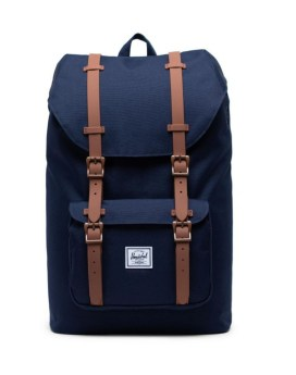 Herschel Supply Co Little America Backpack Peacoat Saddle Brown Front 1
