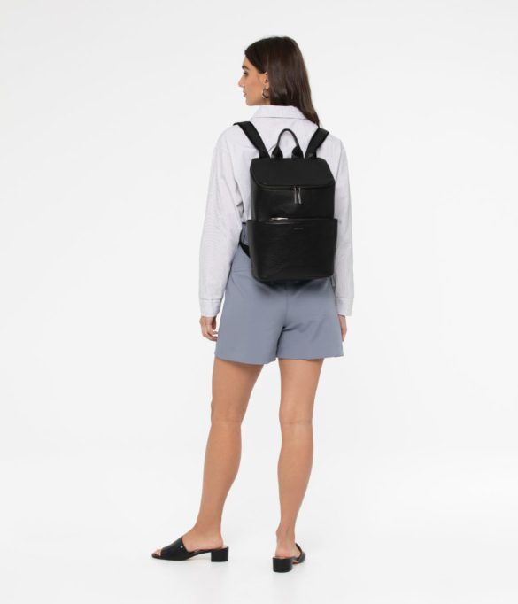 Matt and Nat Brave Backpack Dwell Collection Black SS20 Model Back