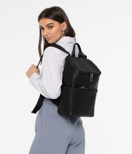 Matt and Nat Brave Backpack Dwell Collection Black SS20 Model Side
