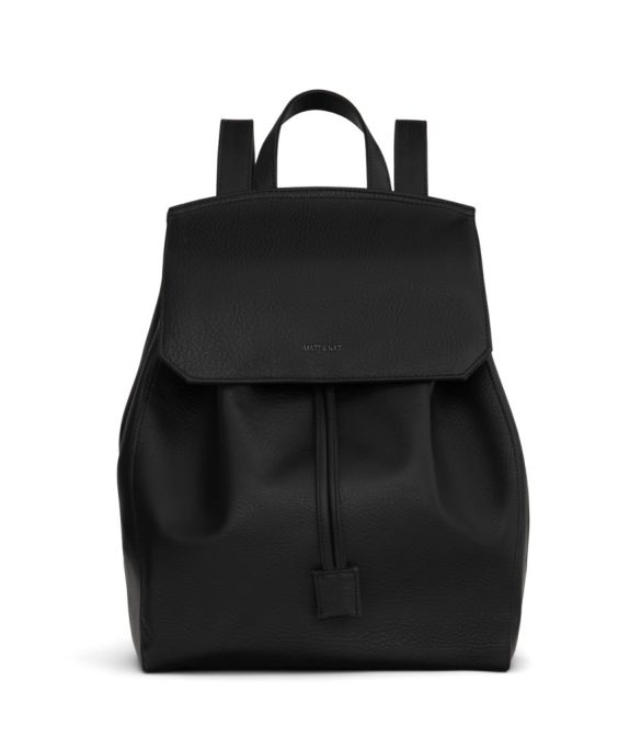 Matt and Nat Mumbai Backpack Dwell Collection Black Front