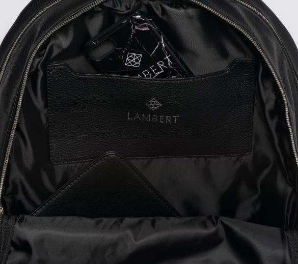 Lambert Charlotte Backpack Black Inside Pocket
