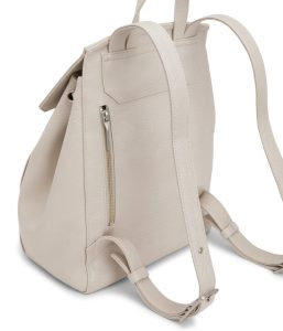 Matt and Nat Mumbai Backpack Dwell Collection Koala Matte Nickel Back Zipper