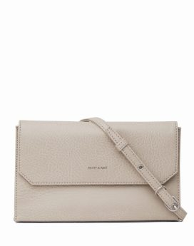 Matt and Nat Suky Crossbody Dwell Collection Koala Matte Nickel Front