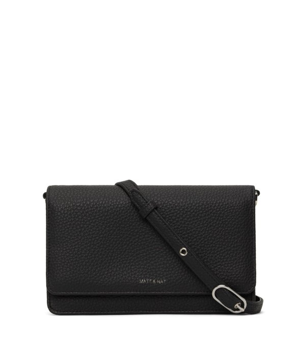Matt and Nat Bee Crossbody Purity Collection Black Front