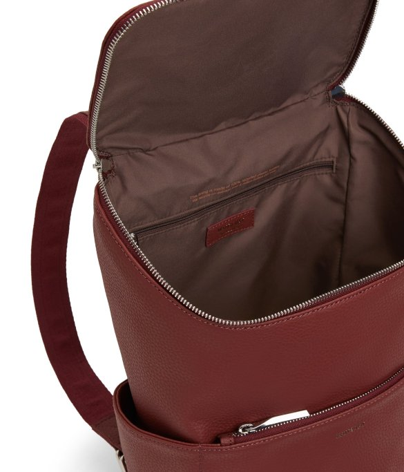 Matt and Nat Brave Backpack Purity Collection Beet Inside
