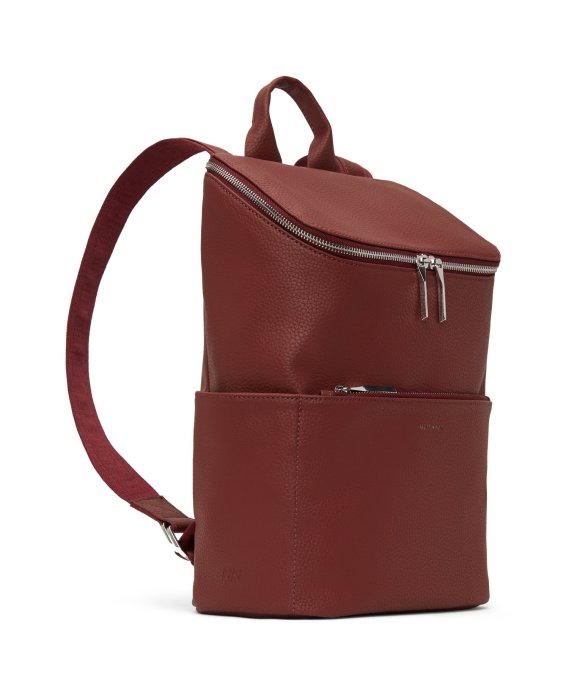 Matt and Nat Brave Backpack Purity Collection Beet Side