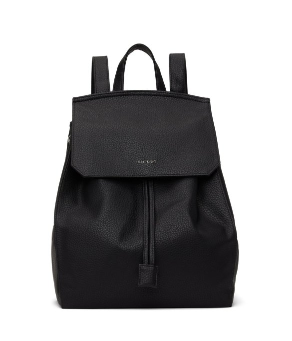 Matt and Nat Mumbai Backpack Purity Collection Black Front