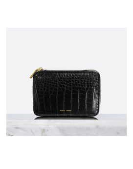 Pixie Mood Blake Jewelry Case Black Croc Front 1