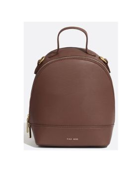 Pixie Mood Cora Small Backpack Dark Oak Front 1