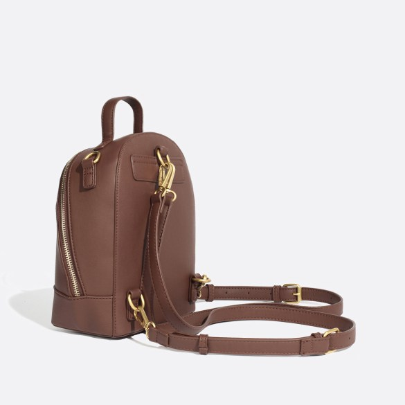 Pixie Mood Cora Small Backpack Dark Oak Side Straps