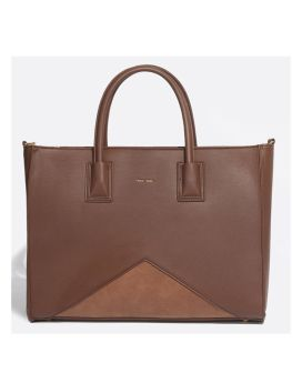 Pixie Mood Greta Tote Dark Oak Front 1