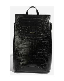 Pixie Mood Kim Backpack Black Croc Front 1