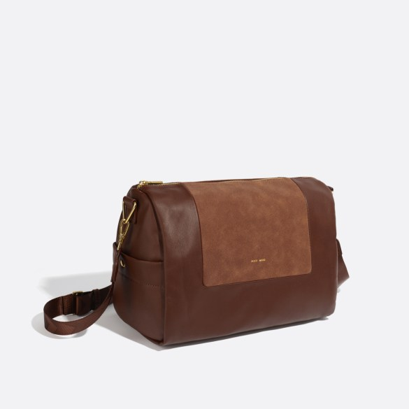 Pixie Mood Olivia Crossbody Dark Oak Nubuck Side