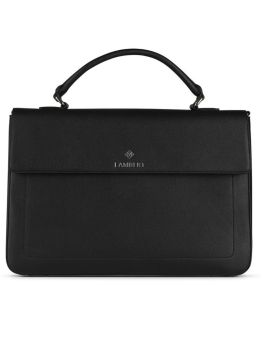 Lambert Alex Briefcase Black Front 1