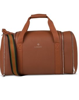 Lambert Sidney Travel Bag Tan Front 1