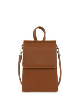 Matt and Nat Thessa Crossbody Vintage Collection Chili Matte Nickel Front