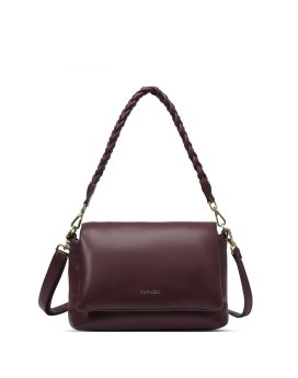 Pixie Mood Bubbly Shoulder Bag Small Wine Front