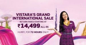 Vistara International Sale