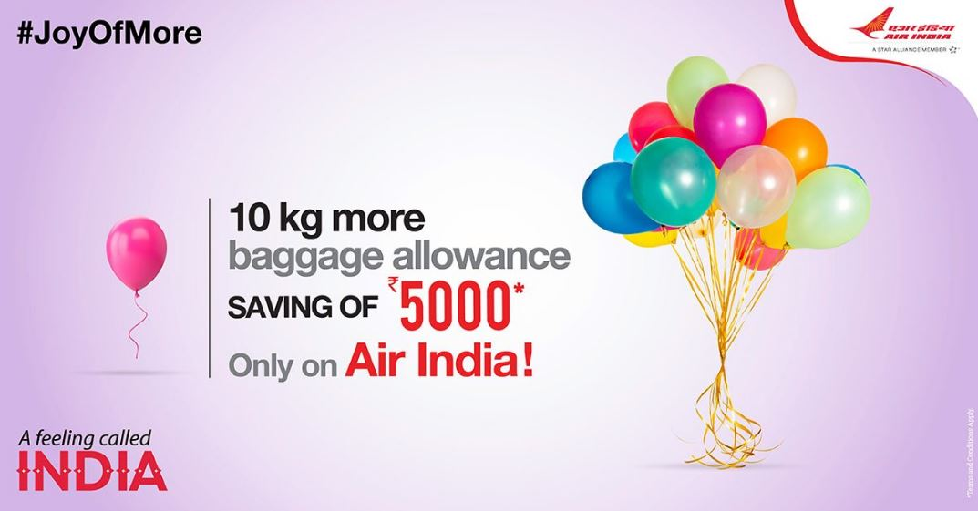 Air India Additional Baggage