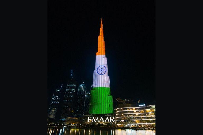 Burj Khalifa Indian Tricolour