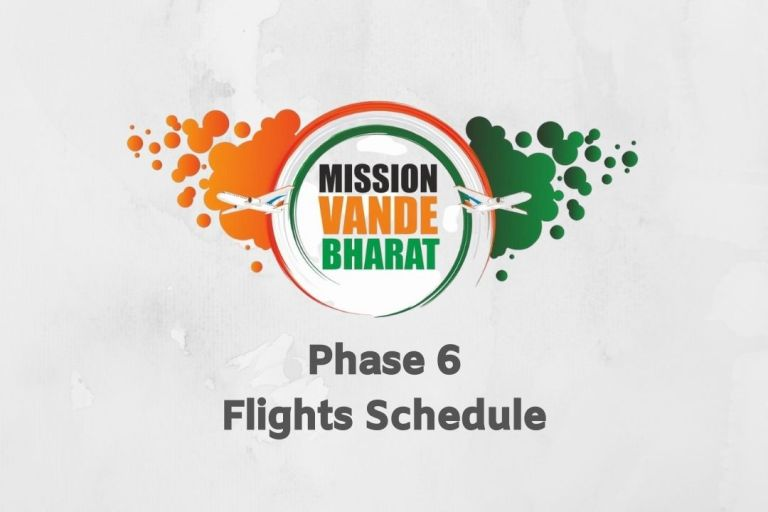 Vande Bharat Mission Phase 6 Flights Schedule