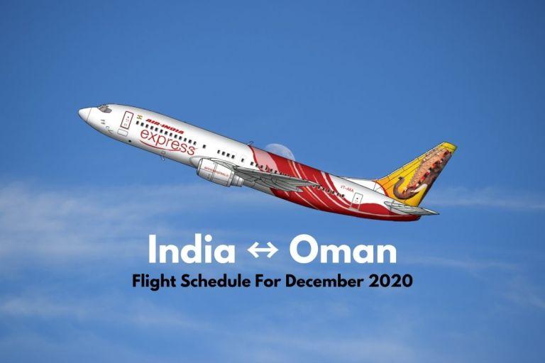 Air India Express Oman December