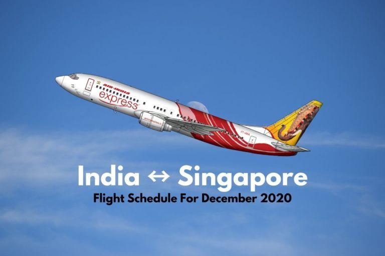 Air India Express Singapore December