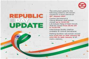 Delhi Metro Stations On January 26