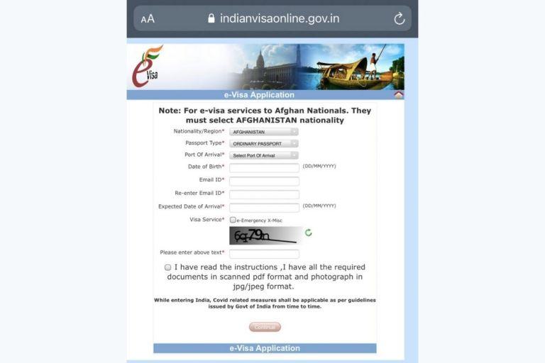 Emergency e-Visa