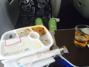 You should bring your own food - almost everyone else on the train did!