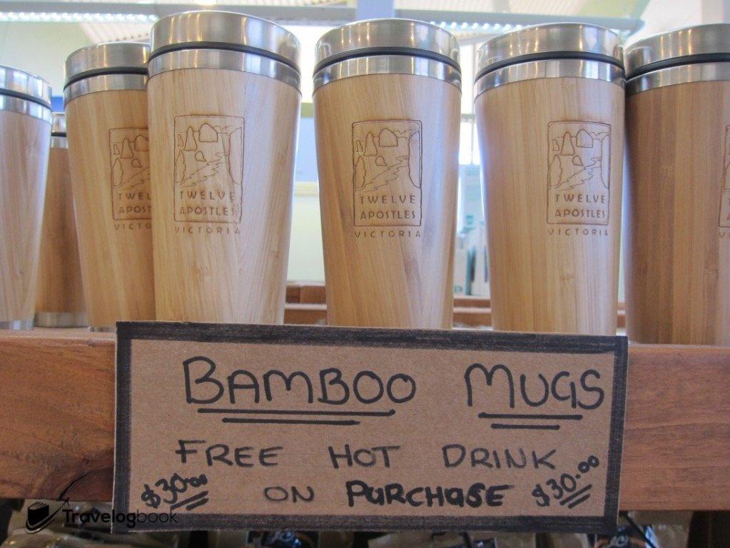 竹面保溫杯,售AU$30。