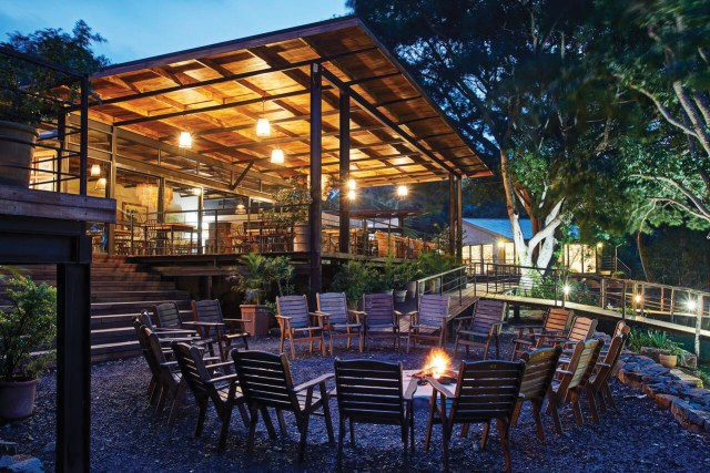 Lodge boma and deck dining area