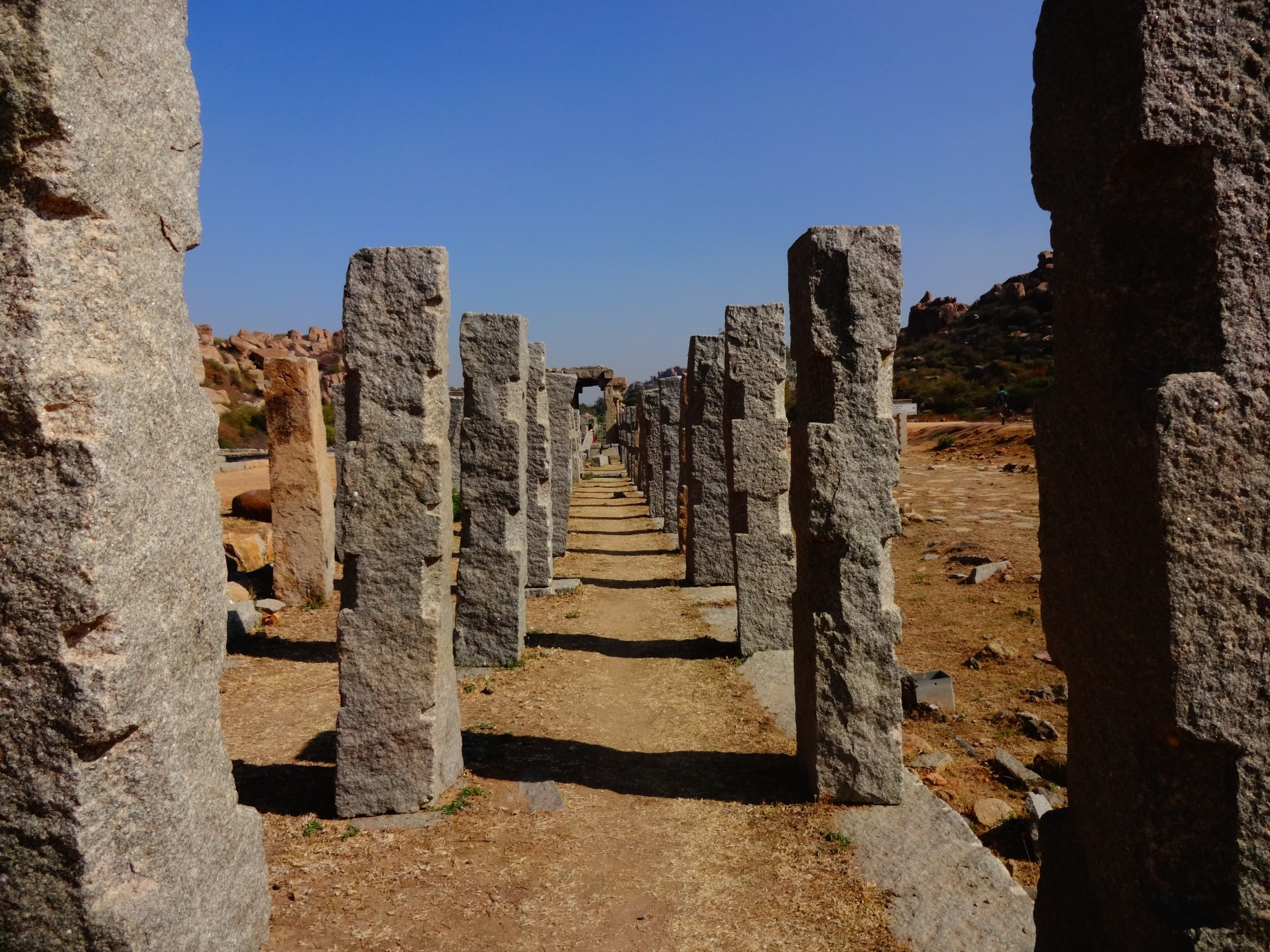 Pillars where the royal elephants and horses were displayed during the Vijayanagara Empire