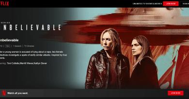 Unbelievable – A NetFlix Web Series
