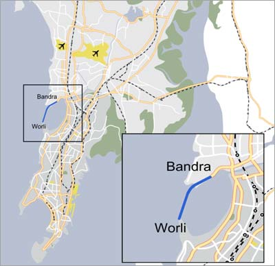 Bandra-Worli Sea-Link Map